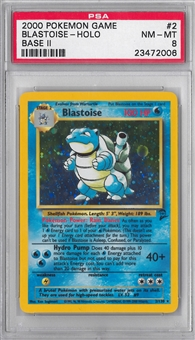 Pokemon Base Set 2 Single Blastoise - PSA 8 *23472006*