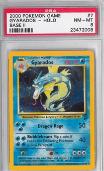Pokemon Base Set 2 Single Gyarados - PSA 8 *23472008*