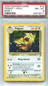Pokemon Base Set 2 Single Pidgeot - PSA 8 *23472011*