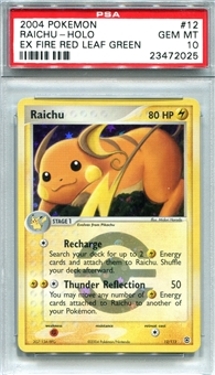 Pokemon Fire Red & Leaf Green Single Raichu - PSA 10 *23472025*