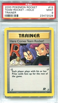 Pokemon Team Rocket Single Here Comes Team Rocket! - PSA 9 *23472028*