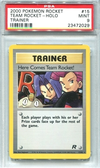 Pokemon Team Rocket Single Here Comes Team Rocket! - PSA 9 *23472029*