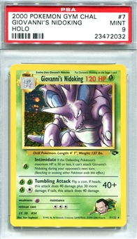 Pokemon Gym Challenge Single Giovanni's Nidoking - PSA 9 *23472032*