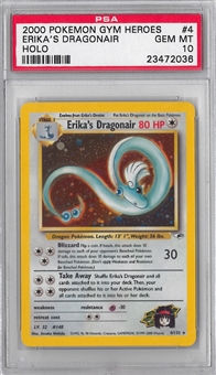 Pokemon Gym heroes Single Erika's Dragonair - PSA 10 *23472036*