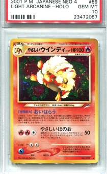 Pokemon Neo 4 Single Light Arcanine Japanese - PSA 10 *23472057*