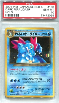 Pokemon Neo 4 Single Dark Feraligatr Japanese - PSA 10 *23472065*