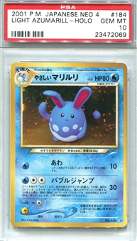 Pokemon Neo 4 Single Light Azumarill Japanese - PSA 10 *23472069*
