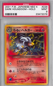 Pokemon Neo 4 Single Dark Houndoom Japanese - PSA 9 *23472076*