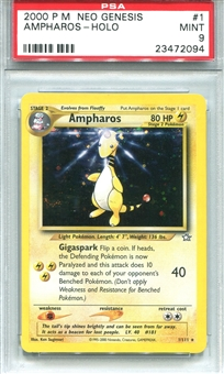 Pokemon Neo Genesis Single Ampharos - PSA 9 *23472094*