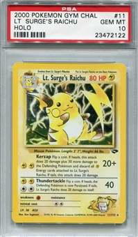Pokemon Gym Challenge Single Lt. Surge's Raichu - PSA 10 *23472122*