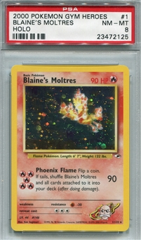 Pokemon Gym Heroes Single Blaine's Moltres - PSA 8 *23472125*