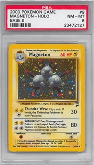 Pokemon Base Set 2 Magneton Holo 9/130 - PSA 8 *23472127*