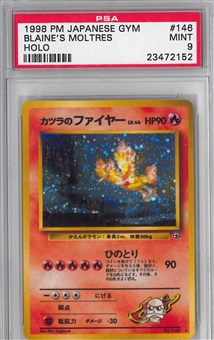 Pokemon Gym Single Blaine's Moltres Japanese - PSA 9 *23472152*