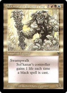 Magic the Gathering Legends Single Sol'kanar the Swamp King - NEAR MINT (NM)