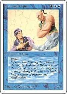 Magic the Gathering Unlimited Single Mahamoti Djinn MODERATE PLAY (VG/EX)