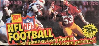 1978 Fleer in Action Football Wax Box