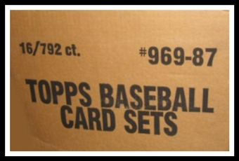 1987 Topps Baseball Factory Set (Brown Box) 16 Set Case