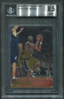 1996/97 Topps Chrome Basketball Complete Set Kobe Graded BGS 8.5