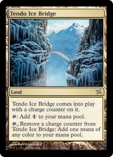Magic the Gathering Betrayers of Kami Single Tendo Ice Bridge - SLIGHT PLAY (SP)
