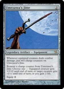 Magic the Gathering Betrayers of Kami Single Umezawa's Jitte - SLIGHT PLAY (SP)