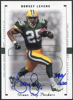 2000 Upper Deck SP Authentic Buy Back Autographs #80 Dorsey Levens 99SPA /620