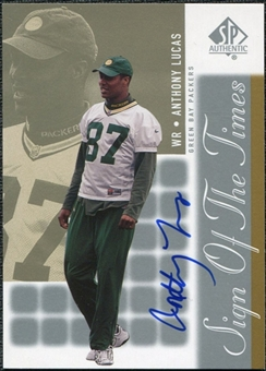 2000 Upper Deck SP Authentic Sign of the Times #AL Anthony Lucas Autograph