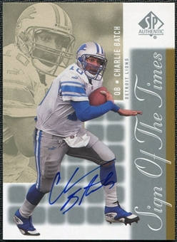 2000 Upper Deck SP Authentic Sign of the Times #CB Charlie Batch Autograph