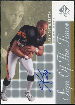 2000 Upper Deck SP Authentic Sign of the Times #CK Curtis Keaton Autograph