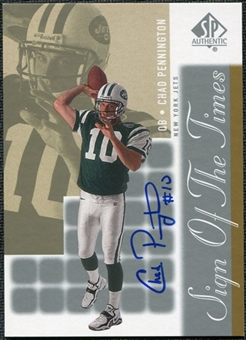 2000 Upper Deck SP Authentic Sign of the Times #CP Chad Pennington Autograph