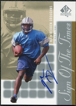 2000 Upper Deck SP Authentic Sign of the Times #DR Reuben Droughns Autograph