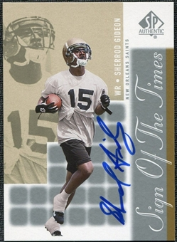 2000 Upper Deck SP Authentic Sign of the Times #SG Sherrod Gideon Autograph