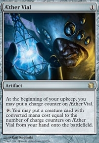 Magic the Gathering Modern Masters Single Aether Vial FOIL - SLIGHT PLAY (SP)