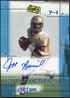 2000 Upper Deck UD Ionix UD Authentics #JH Joe Hamilton B Autograph /300