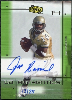 2000 Upper Deck UD Ionix UD Authentics Green #JH Joe Hamilton Autograph /25