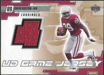 2000 Upper Deck Game Jersey David Boston #BO