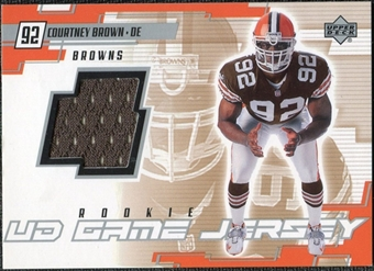 2000 Upper Deck Game Jersey Courtney Brown #CB