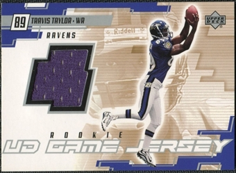 2000 Upper Deck Game Jersey Travis Taylor #TT