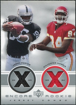 2000 Upper Deck Encore Rookie Combo Jerseys #RC3 Jerry Porter Sylvester Morris