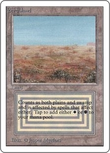 Magic the Gathering Unlimited Single Scrubland LIGHT PLAY (NM)