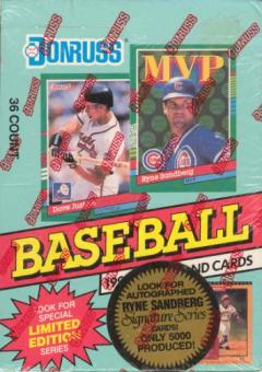 1991 Donruss Series 2 Baseball Canadian Wax Box