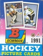 1991/92 Bowman Hockey Wax Box