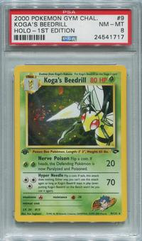 Pokemon Gym Challenge 1st Edition Single Koga's Beedrill 9/132 - PSA 8 *24541717*