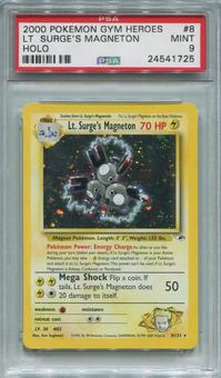 Pokemon Gym Heroes Single Lt. Surge's Magneton 8/132 - PSA 9  *24541725*