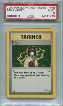 Pokemon Gym Heroes Single Erika 16/132 - PSA 9  *24541729*