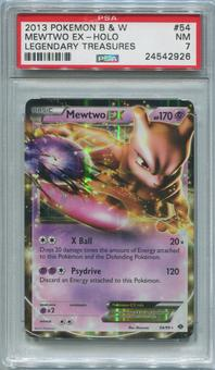 Pokemon Legendary Treasures Single Mewtwo EX 54/99 - PSA 7  *24542926*