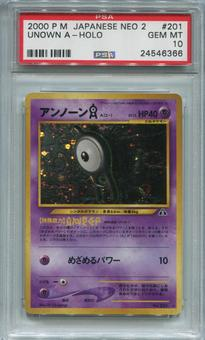 Pokemon Japanese Neo 2 Single Unown A - PSA 10  *24546366*