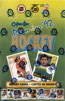 1991/92 O-Pee-Chee Premier Hockey Wax Box
