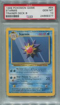 Pokemon Trainer Deck B Single Starmie 64/102  -  PSA 10  *24669377*