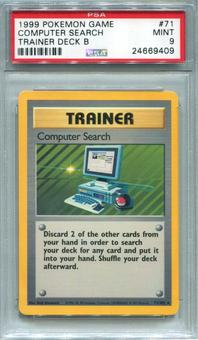 Pokemon Trainer Deck B Single Computer Search 71/102  -  PSA 9  *24669409*