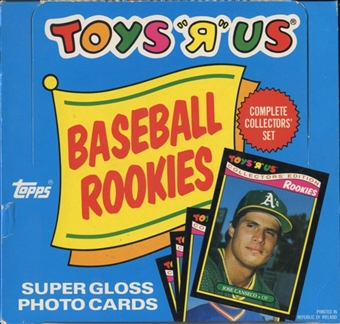 1987 Toys 'R' Us Rookies Baseball Factory Set Box (Barry Bonds!)